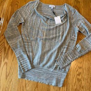 NEW Calvin Klein gray drape neck sweater size XS